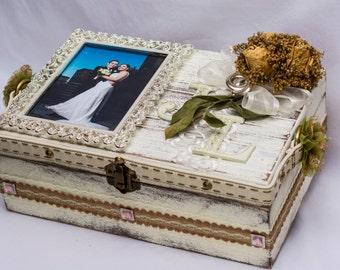 Wedding Gift Memory Boxes : Memory Box, Custom Wedding Box, Personalized Memory Box , Bridal Gift ...