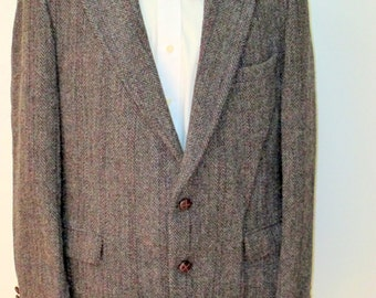 Vintage Harris Tweed Blazer, handwoven 100% pure Scottish wool  sports coat, tweed blazer, tweed jacket,  Preppy blazer