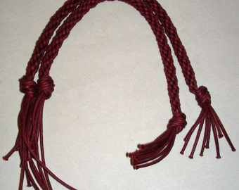 Hand Braided Purse Handles - Country Red