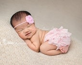 Baby Girl Clothes-Pink Lace Diaper Cover-Bloomers-Bloomer-Newborn Girl Clothes-Infant-Toddler-Diaper Cover-Flower Girl-Wedding-Baby Baptism