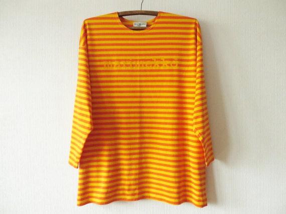 Orange Striped Shirt Marimekko Shirt Yellow Orange