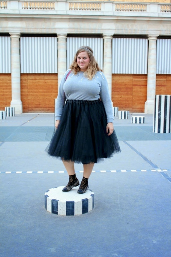 items similar to plus size black tulle skirt on etsy