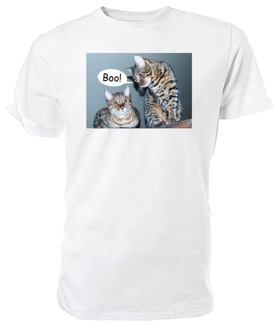 Bengal Cat T shirt. classic round neck short sleeved choice of sizes and colours,