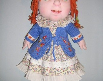 """ROSINA 15"""" Doll; Soft Sculpture Doll; Walldorf Inspired Doll; Handmade Cloth Doll; Unique Doll; Collectible Doll"""