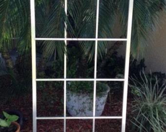 "Garden Trellis, Plant Trellis, All Aluminum, Handmade, 65"" x 27"", garden decor,"