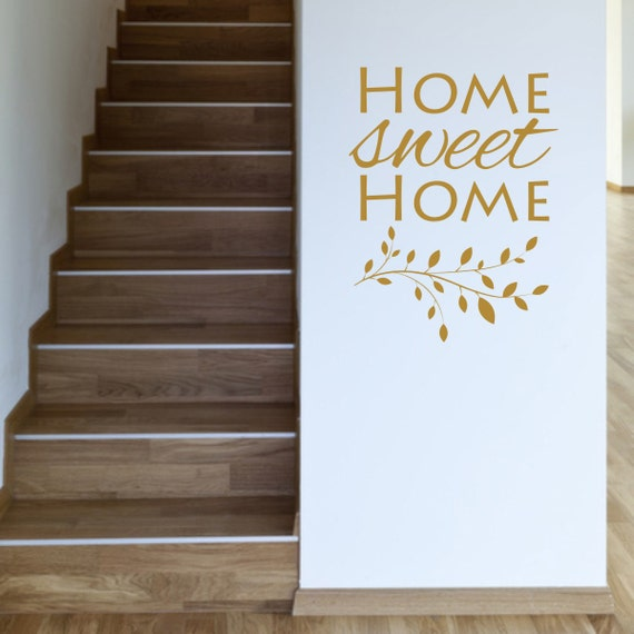 Home sweet home wall decal home sweet home wall art by Home sweet home wall decor