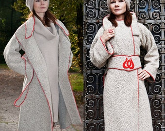 Long winter coat, Budapest, Long Coat for Women, chunky Sweater, New Collection, Cardigan, wool cardigan,light gray,Oversized coat,clothing