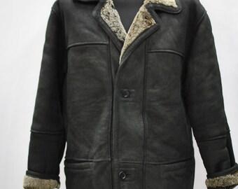 Vintage SMOOTH CITY shearling men parka , shearling men parka , men jacket...(034)