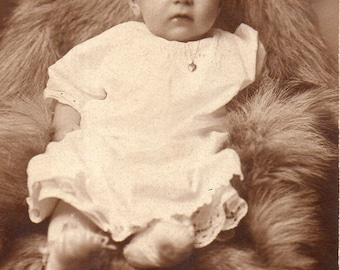 Antique Photo of Adorable Wide-Eyed Baby