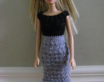 2. Black and Grey Dress
