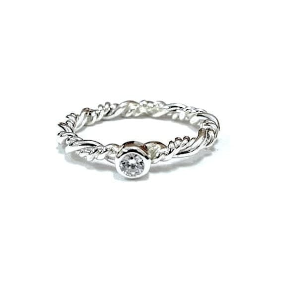 promise ring bestfriend white gold ring by jewelryyourstyle