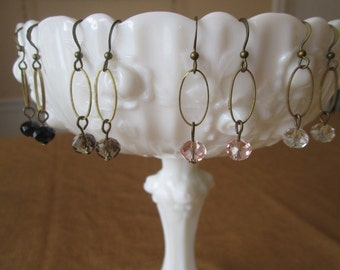 Antique Bronze Swarovski Crystal Earrings by The Darling Duck