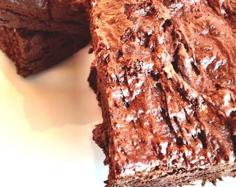 Organic Gluten Free Fudge Brownies / Low Carb / Paleo Friendly / Wheat Free