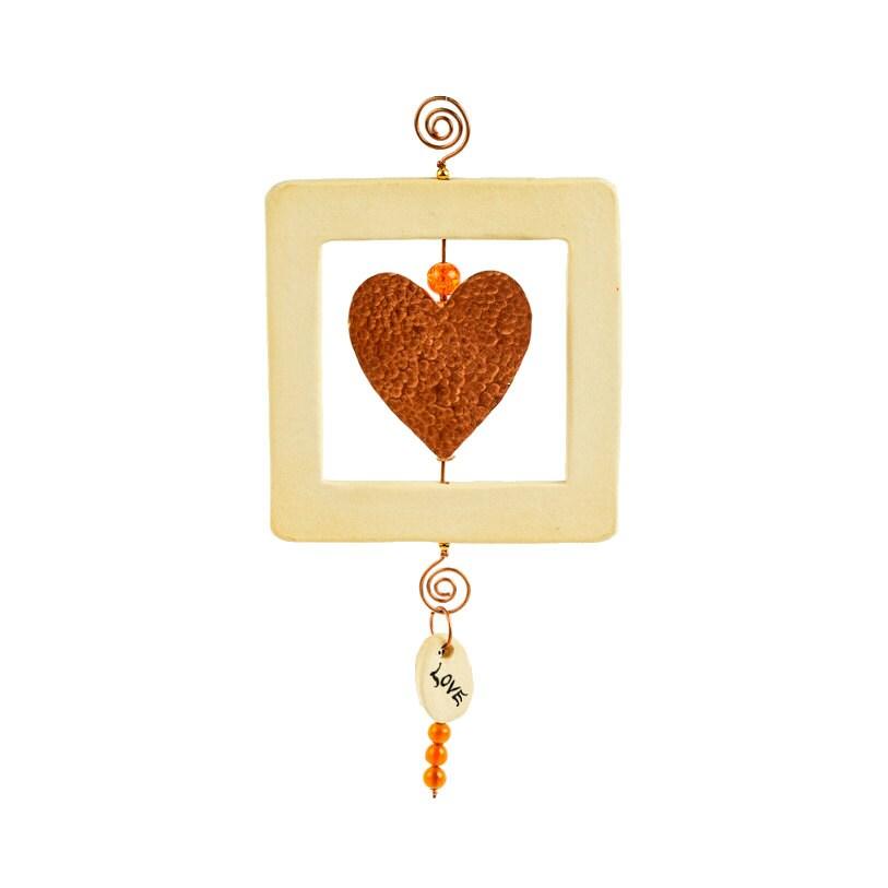 Decorative Wall Hanging Hearts : Love art wall decor heart hanging