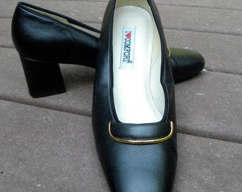 Classic Vintage Black Casual or Dress Pumps