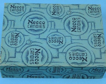 Vintage Necco Candy Box, wintergreen lozenges