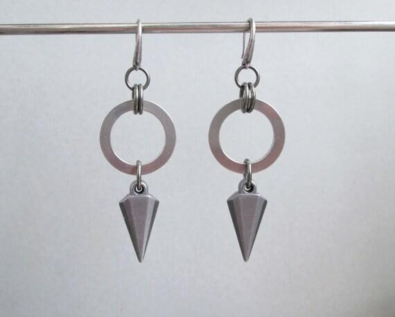 spike earrings stainless steel jewelry hypoallergenic