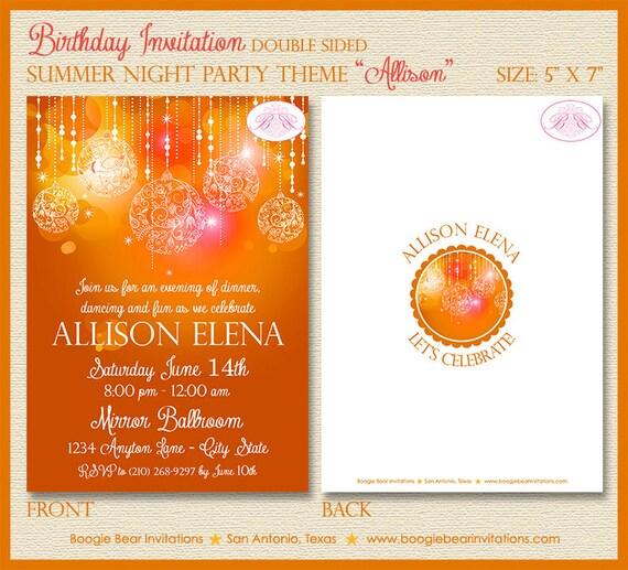 Summer Nights Birthday Party Invitation By