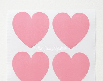 Pink Heart Stickers Envelope Seals - Pack of 48