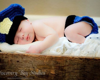 Newborn Police Officer Outfit