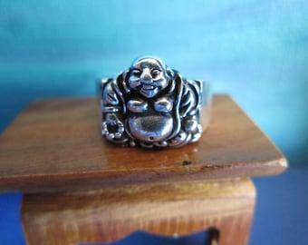 Very Nice Vintage Buddha Ring Size 5 1/2