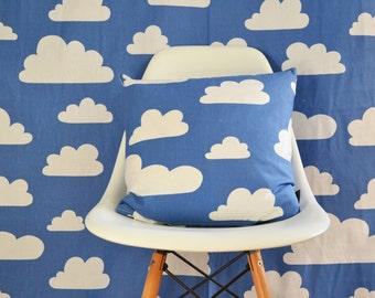 Swedish Scandinavian Farg & Form Kids Clouds Cloud fabric - Per metre - Blue Clouds