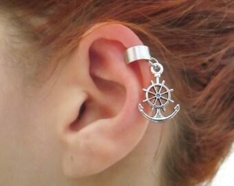 Anchor with wheel ear cuff wrap