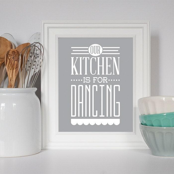 Our kitchen is for dancing kitchen decor kitchen by eatsaylove - Space saving movable kitchen island get efficient kitchen traffic ...