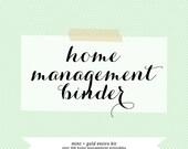 Printable Home Management • Mint + Gold • Entire Kit • Letter