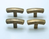 """1.77"""" inches Lot of 4 pcs Vintage Retro Arched Bend Solid Bar Knobs Handle Solid Brass Cabinet Handle Pull Knobs K011"""