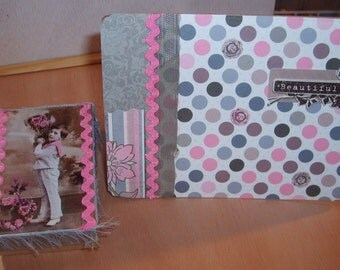 Decoupaged Paper Mache Box and Note Card Set