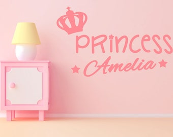 Princess wall decal sticker | choice of  sizes & 18 colours