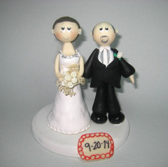 wedding cake toppers bald groom wedding cake topper bald groom by cutetoppers on etsy 26387