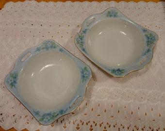 Beautiful Vintage Porcelain Bowls Matched Set Of Two