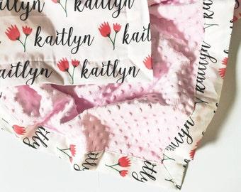 Minky Name Blanket