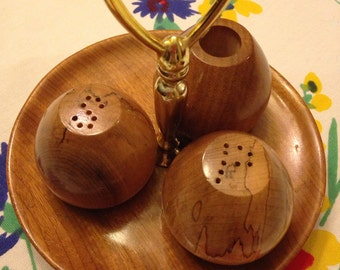 Cute Myrtlewood Salt and Pepper Shaker Set