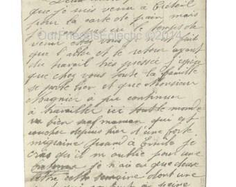 Digital download,printable script,French script writing,vintage letter,ephemera,antique script,scrapbooking etc