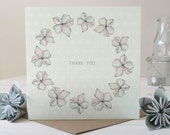 SALE: Blossom Thank You Card, Greetings Card, Stationery