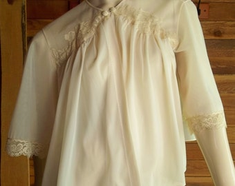 Vintage Lingerie 1950s VANITY FAIR Peach Bed Jacket Small