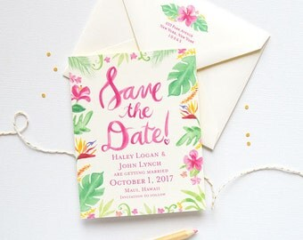 Save the Date Card, Destination Wedding Save the Date, Beach Wedding Save the Date, Save the Date Cards