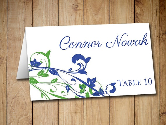 Wedding Place Card Template Printable Escort By PaintTheDayDesigns