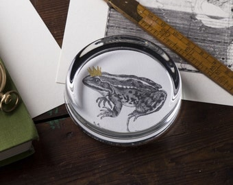 Frog Prince Hand Gilded Paperweight