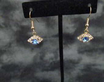 Crystal  dangle Tanzanite  earrings, wedding earrings dangle earrings bridesmaid earrings