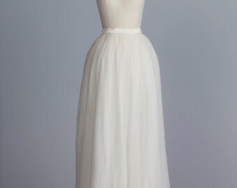 SAMPLE SALE! Blair Skirt - Della Giovanna- Off White - Silk Tulle - Bridal Separates - Wedding Dress - Ball Princess Gown - Bride