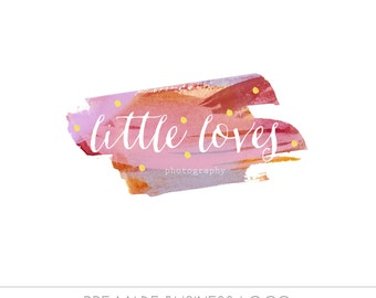 Pre made Business Logo, watercolor design, photography, watermark, painted, simple design - Newborn photography logo, maternity logo