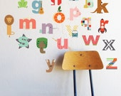 Interactive Lowecase Alphabet  - WALL DECAL - NEW