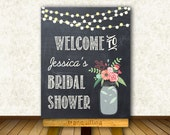 Printable Welcome Sign, Bridal Shower Welcome Sign, Wedding Welcome Sign, Chalkboard Welcome Sign - Wedding Reception Sign Printable