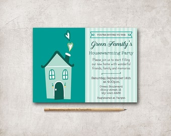 Housewarming Invitation Printable, Digital File - Housewarming Party Invite