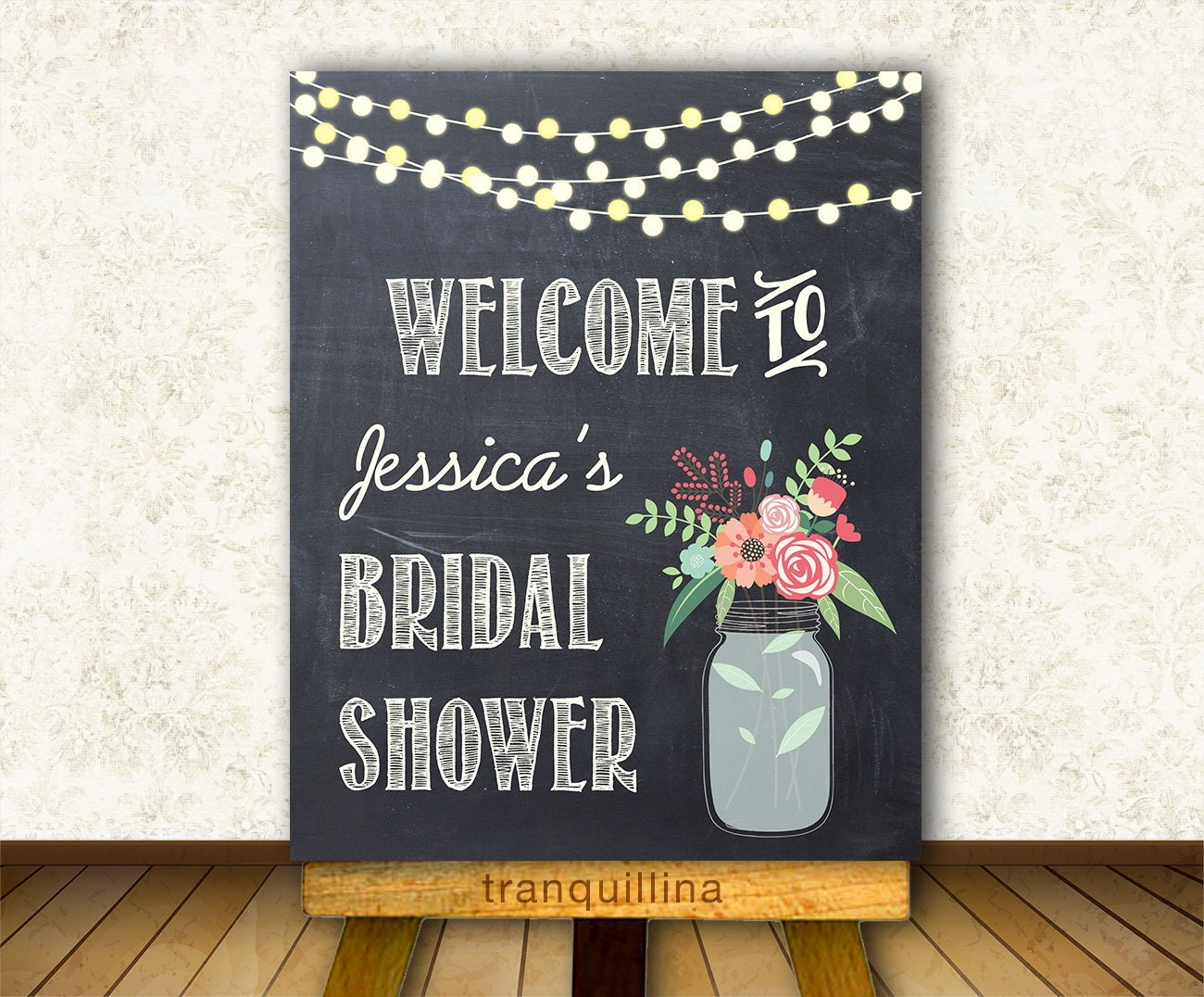 Sweet image inside printable bridal shower signs