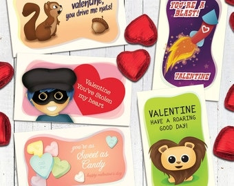 Valentine Kid Pack 01  |  5 Little Valentine Cards
